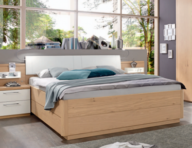 Disselkamp Calida Kastenbett 90x200 cm mit Paneelkopfteil in Holz 81438