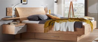 Disselkamp Cena Bett mit Holzkopfteil
