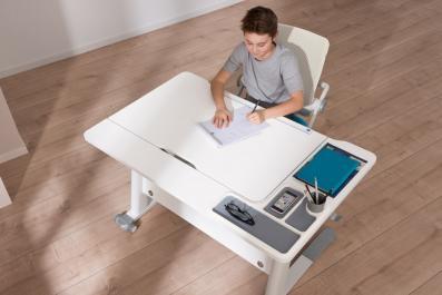 paidi schreibtisch jaro kinderschreibtisch f r linksh nder h henverstellbar kreidewei. Black Bedroom Furniture Sets. Home Design Ideas
