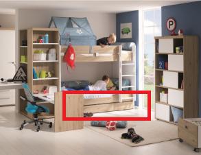 paidi fionn bettkasten unterschiebebett mit rollen 1318814 versandkostenfrei. Black Bedroom Furniture Sets. Home Design Ideas