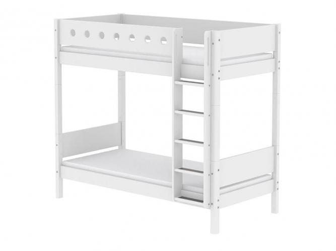 Flexa Etagenbett Leiter : Flexa maxi etagenbett white mit gerader leiter weiß birke natur