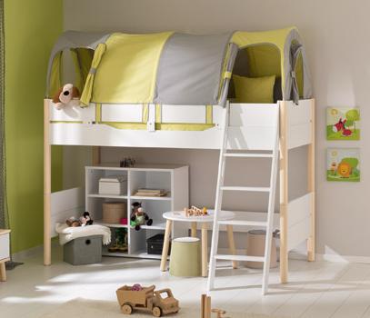 paidi ylvie spielbett h he 160 mit schr ger leiter versankostenfrei. Black Bedroom Furniture Sets. Home Design Ideas