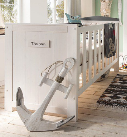 infanskids lucky kinderbett h henverstellbar mit lattenrost versandkostenfrei. Black Bedroom Furniture Sets. Home Design Ideas