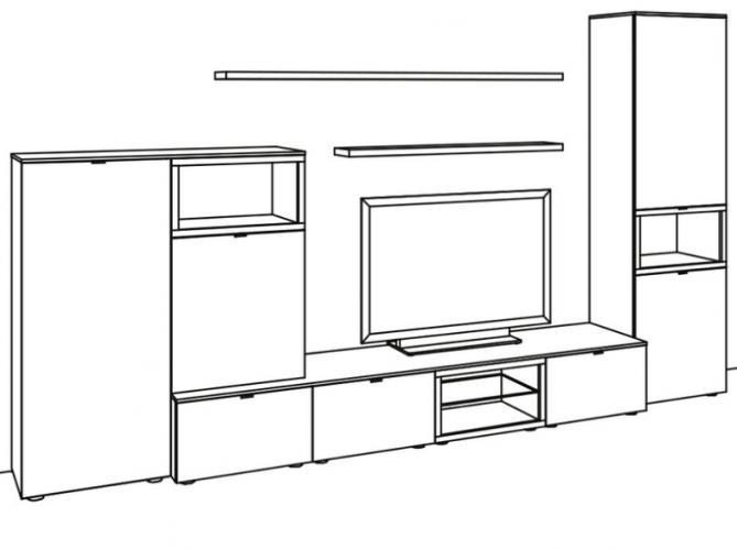 venjakob andiamo wohnwand best venjakob andiamo sideboard ausfhrung lack wei oder basalt matt. Black Bedroom Furniture Sets. Home Design Ideas