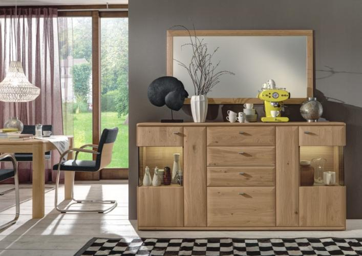 w stmann highboard bari 3000 wildeiche massiv soft. Black Bedroom Furniture Sets. Home Design Ideas