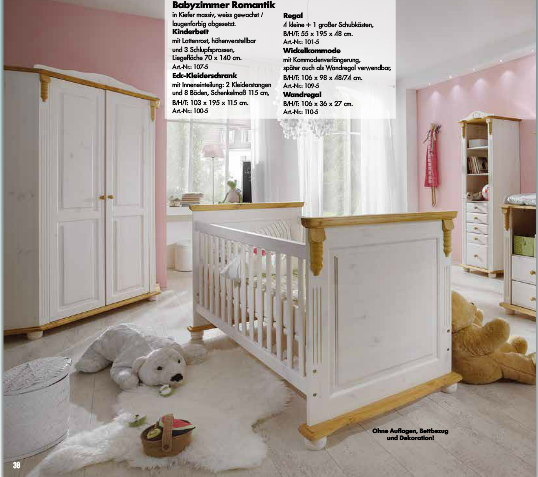 infanskids infansbaby babyzimmer romantik kiefer massiv wei gewachst laugenfarbig. Black Bedroom Furniture Sets. Home Design Ideas