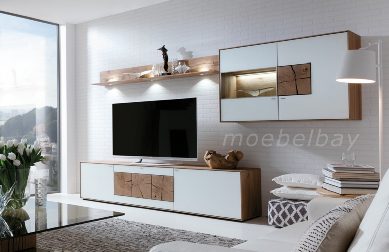 wohnwand caya kombi nr 22 w wei von hartmann. Black Bedroom Furniture Sets. Home Design Ideas