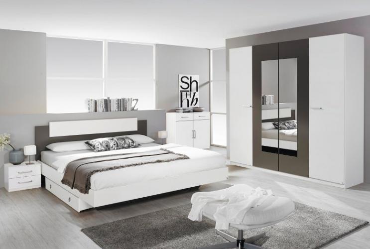 Rauch Schlafzimmer Borba Schlafzimmer Set Alpinweiss Grau Metallic