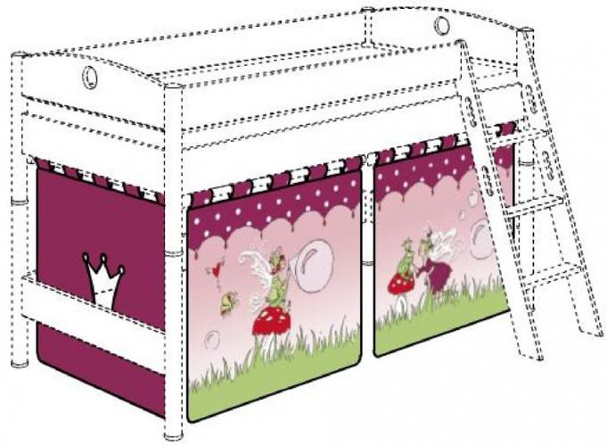 paidi vorhang set 125 cm motiv vorh nge elfen 1584400 71 versandkostenfrei. Black Bedroom Furniture Sets. Home Design Ideas