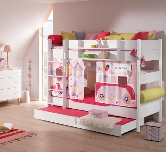 paidi ylvie etagenbett h he 180 mit gerader leiter versankostenfrei. Black Bedroom Furniture Sets. Home Design Ideas