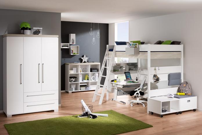 paidi kira hochbett 180cm hoch mit griffleiter gerade versandkostenfrei. Black Bedroom Furniture Sets. Home Design Ideas
