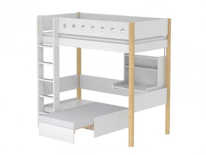 flexa white sofabett mit bettkasten in wei nur in kombination mit white hochbett zu verwenden. Black Bedroom Furniture Sets. Home Design Ideas