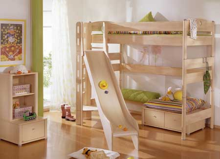 paidi fleximo spielbett 155 cm mit rutschenturm 1438776 versandkostenfrei. Black Bedroom Furniture Sets. Home Design Ideas