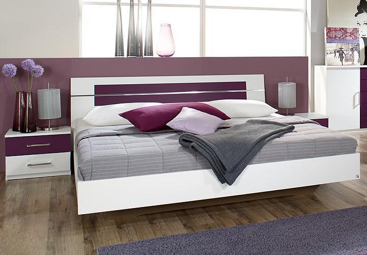 rauch bettanlage burano bettgestell mit 2 nachttischen in verschiedenen farben. Black Bedroom Furniture Sets. Home Design Ideas