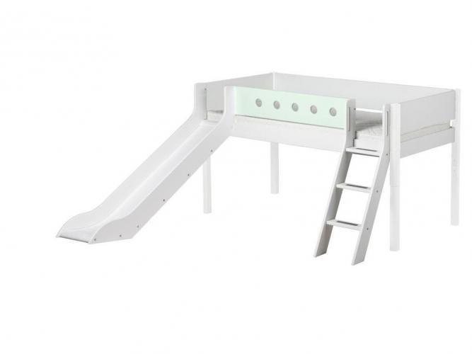 flexa white halbhohes bett mit rutsche 80 17315 versandkostenfrei bett. Black Bedroom Furniture Sets. Home Design Ideas