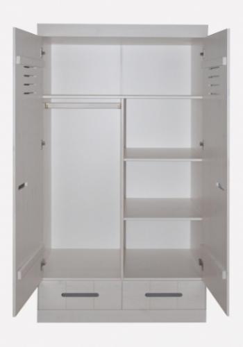 infanskids kleiderschrank 1002 2 t rig mit 2 schubladen versandkostenfrei. Black Bedroom Furniture Sets. Home Design Ideas