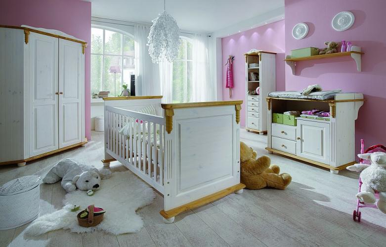 infanskids romantik kinderbett h henverstellbar mit lattenrost versandkostenfrei. Black Bedroom Furniture Sets. Home Design Ideas