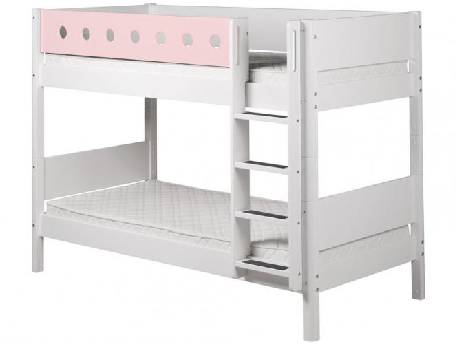Etagenbett Rosa : Hochglanz etagenbett doppelbett alex mit regalen treppe und